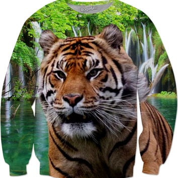 Tiger and Waterfall Sweatshirt