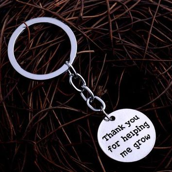ac spbest Thank You For Helping Me Grow Keyring Father Mother Teahcer Best Friend Gifts Keychain Charm Women Men Jewelry