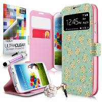 Little Daisy 2229 Thin Seamless flip cover case, Samsung Galaxy S4