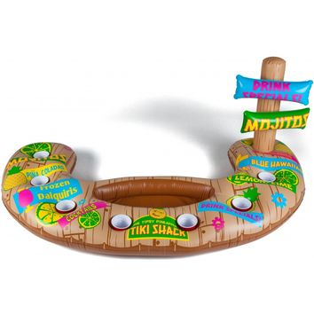 Floating Tiki Swim Up Bar - Holds 7 Drinks! - PRE-ORDER, SHIPS LATE MARCH