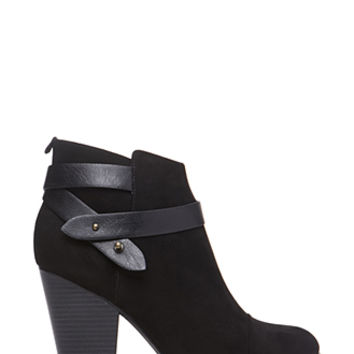FOREVER 21 Wrapped Faux Suede Booties