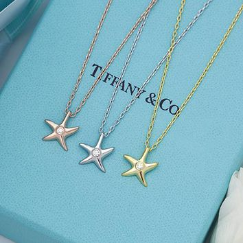 Tiffany classic 925 sterling silver starfish sweater chain
