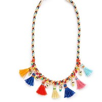 Girl's Cara Couture Beaded Tassel Necklace - Multi