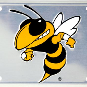 Georgia Tech Yellow Jackets Deluxe Silver Novelty License Plate by Hangtime