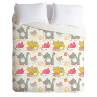Wendy Kendall Cat And Mouse Duvet Cover