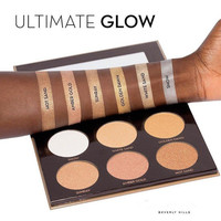 New come Ultimate Glow Kit 6 Colors Shadow Highlighter Palette Highlighting Bronzer Palette New Cosmestics Makeup Dropship