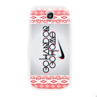 Nike Logo aztec Go Hard Or Go Home For Samsung Galaxy S4 Case