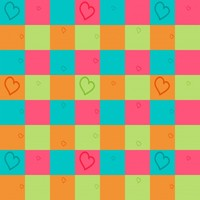 Seamless Bright Colors And Hearts Free Stock Photo - Public Domain Pictures