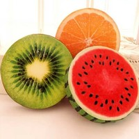 fruit orange kiwi watermelon pillow