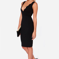 LULUS Exclusive Work of Heart Midi Black Bodycon Dress
