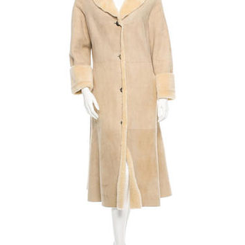 Burberry Suede Shearling Coat