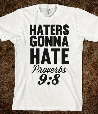 Haters Gonna Hate (Proverbs 9:8)