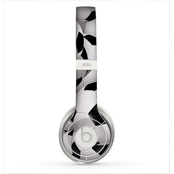 The Soccer Ball Overlay Skin for the Beats by Dre Solo 2 Headphones