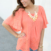 Boho On The Go Top, Orange