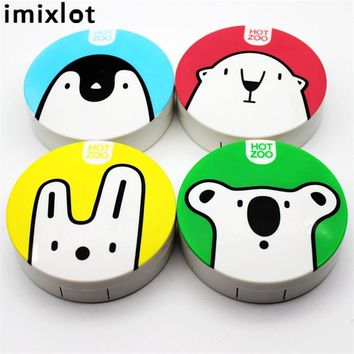 Imixlot Plastic Contact Lens Box Holder Portable Small Lovely Candy Color Eyewear Case Container Contact Lenses