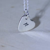 Personalized initial sterling silver heart charm