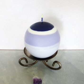 Lilac soy ball candle, Lilac biodegradable scented ball candle, multi hues of purple soy ball candle.