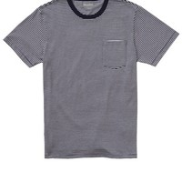 Bonobos Men's Clothing | Vintage Wash Tee - Crew Neck - Navy & White Micro-Stripe