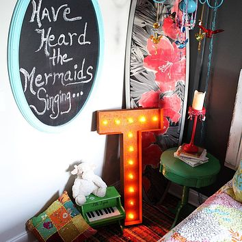 "36"" Letter T Lighted Vintage Marquee Letters (Rustic)"
