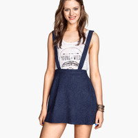Skirt with Suspenders - from H&M