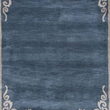 Jaipur Living Timeless by Jennifer Adams JAT23 Blue Borders Area Rug