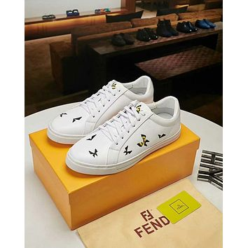 Fendi 2018 new embroidery butterfly men s low cut casual sports ae38f030a8