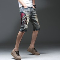 Embroidery Indian Hot Sale Summer Jeans [3444983234653]