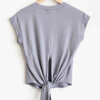 Phoebe Back Tie Tee - More Colors