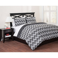 Walmart: East End Living Classic Chevron 3-Piece Bedding Comforter Set, Black