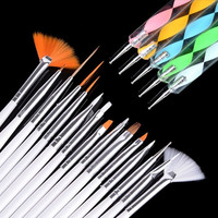 20pcs Nail Art Design Gel Painting Drawing Dotting Pen Polish Brush Set  7_S = 1917056836