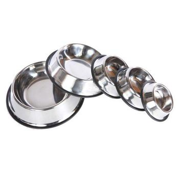 VONFC9 2016 Pet Dog Stainless Steel Non Slip Feeding Food Water Dish Bowls for Pets Dog Cat
