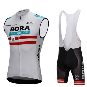 Bora 2018 Austria Champion Men Cycling Jersey Sets Jersey Sleeveless Cycling Clothing Road Bike Mtb Riding Apparel Ropa Ciclismo