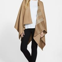 Women's Burberry Reversible Merino Wool Ruana