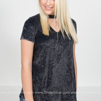 Velvet Love Mock Top | Black