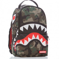 Sprayground Lil Camo Shark Mini Backpack