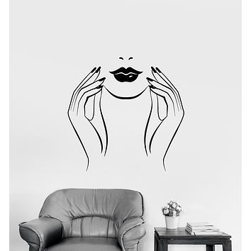Vinyl Wall Decal Manicure Nails Studio Beauty Salon Stickers (3654ig)