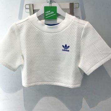 DCCKFC8 Adidas' Short Shirt Crop Top Tee Blouse