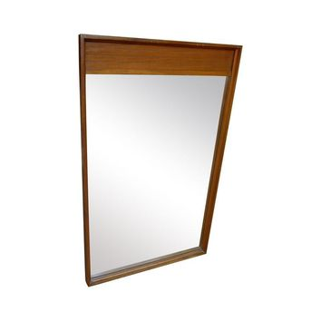 Pre-owned Mid-Century Modern Walnut Mirror