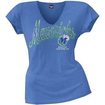 Dallas Mavericks - Logo Juniors V-Neck T-Shirt