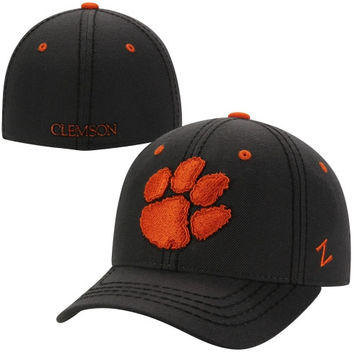 Zephyr Clemson Tigers Smoke Fitted Hat - Charcoal