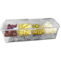 Evelots Chilled Condiment Server W/ 4 Or 5 Compartments,Removable Containers