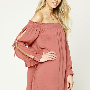 Off-the-Shoulder Swing Dress