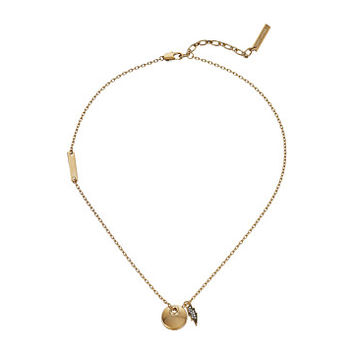 Marc Jacobs MJ Coin Lightning Pendant Necklace