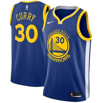 Men's Golden State Warriors Stephen Curry Nike Blue Swingman Jersey - Icon Edition