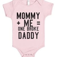 Broke daddy-Unisex Light Pink Baby Onesuit 00