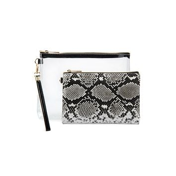 Copy of Snake Skin Box Cosmetic Pouch
