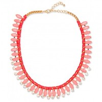 Coral Dakota Necklace - Summer Statement