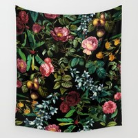 Floral jungle Wall Tapestry by Burcu Korkmazyurek