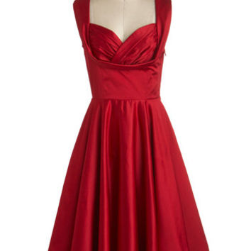 Trashy Diva Vintage Inspired Long Sleeveless A-line Aisle Be There Dress in Rose