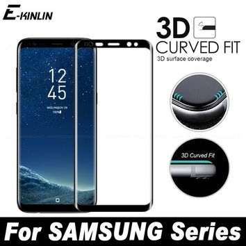 3D Full Screen Cover Curved Tempered Glass For Samsung Galaxy S8 S7 S6 Edge Plus G9300 G9350 G9250 G9280 Screen Protector Film